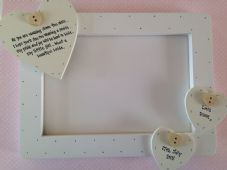 Shabby personalised Chic Wedding Gift For Bride From Her Mum Photo Frame